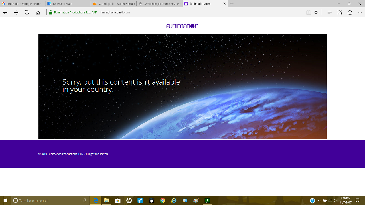 Content unavailable in your country\